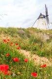 风车孔苏埃格拉,西班牙 免版税库存图片