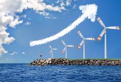 风车成长 免版税图库摄影