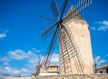 风车,马略卡,西班牙 免版税图库摄影