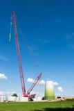 风车建造场所 免版税库存图片