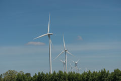 风轮机供选择的可再造能源泰国 库存图片