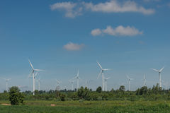 风轮机供选择的可再造能源泰国 图库摄影