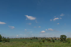风轮机供选择的可再造能源泰国 免版税库存图片