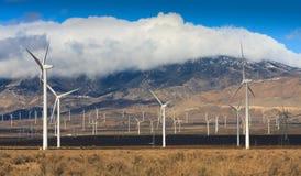 风轮机农场在加利福尼亚 库存图片