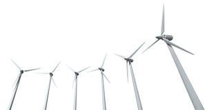 风轮机列阵 免版税库存图片