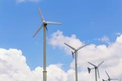 风轮机发电 免版税库存照片