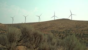 风轮机和阳光, WA,美国4K UHD 股票视频
