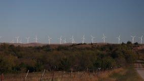 风轮机在俄克拉何马 影视素材