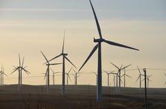风轮机在农村苏格兰 免版税图库摄影