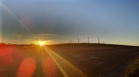 风轮机在康沃尔郡, 免版税库存图片