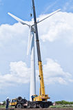 风轮机的设施 库存照片