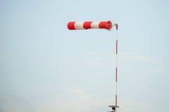 风速表在单独天空中 免版税图库摄影