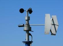 风速表监控天气 免版税库存照片