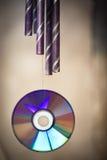 风铃和CD-ROM 免版税图库摄影