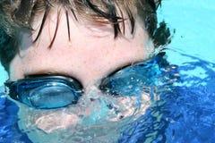 风镜游泳者 库存照片