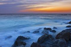 风险佛罗里达海浪时间 库存图片