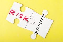 风险和赢利 免版税库存照片