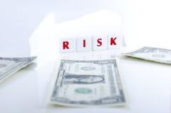 风险和金钱 免版税库存照片