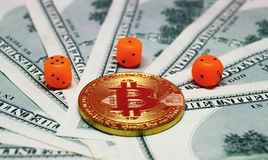 风险投资对bitcoin 库存照片