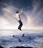风险的概念在商业的 库存照片
