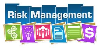 风险管理企业标志五颜六色的正方形条纹 免版税库存图片