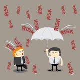 风险管理,投资概念 皇族释放例证