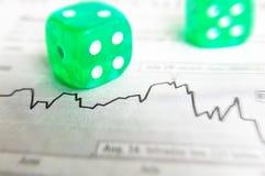 风险股票 免版税库存图片