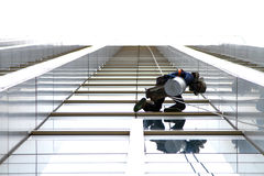 风险载体清洁镜子hight塔 库存照片