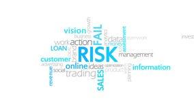 风险,印刷术动画 向量例证