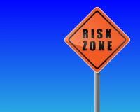 风险roadsign区域 库存图片