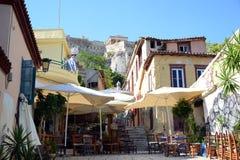风雅典希腊上城旅行目的地旅游业的塔 免版税图库摄影