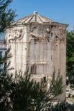 风雅典希腊的塔 免版税库存图片