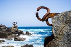 风雕塑圣塞瓦斯蒂安的梳子 免版税库存图片