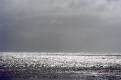 风雨如磐水平的海景 免版税库存照片