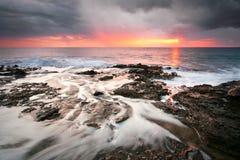 风雨如磐的冬天克利特,希腊。 免版税图库摄影