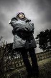 风雨如磐的冬天 免版税图库摄影