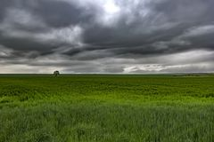 风雨如磐的多云天空 库存照片