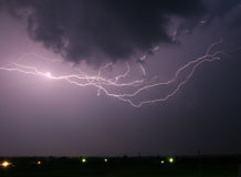 风雨如磐的夜空 库存图片