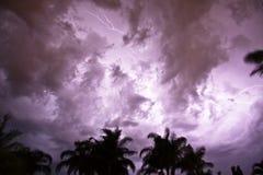 风雨如磐的夜空 库存照片