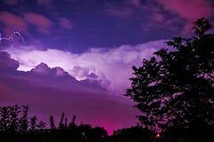 风雨如磐的夜酿造在阿肯色 图库摄影