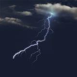 风雨如磐的天空在晚上 库存图片