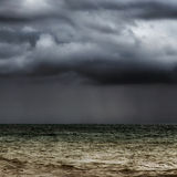 风雨如磐的展望期 库存图片