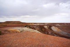 风雨如磐的彩绘沙漠 免版税库存图片