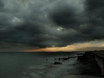 风雨如磐的日落 库存图片