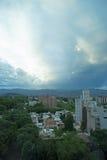 风雨如磐的晚上视图, Mendoza,阿根廷 免版税库存照片