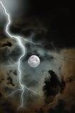 风雨如磐的月亮 图库摄影