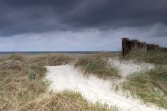 风雨如磐的沙丘 免版税库存图片
