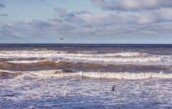 风雨如磐的波罗的海 免版税库存照片