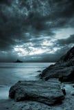 风雨如磐的海洋 库存图片
