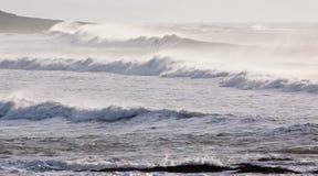 风雨如磐的海浪 库存图片